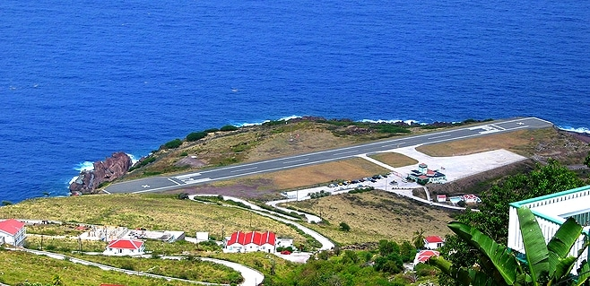 Airport of the Saba Island