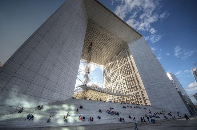 La Grande Arche de la Défense is a monument and building in the business district of La Défense and in the commune of Puteaux, to the west of Paris
