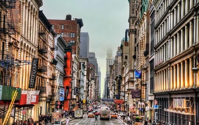 New York City Soho Shopping District on Broadway