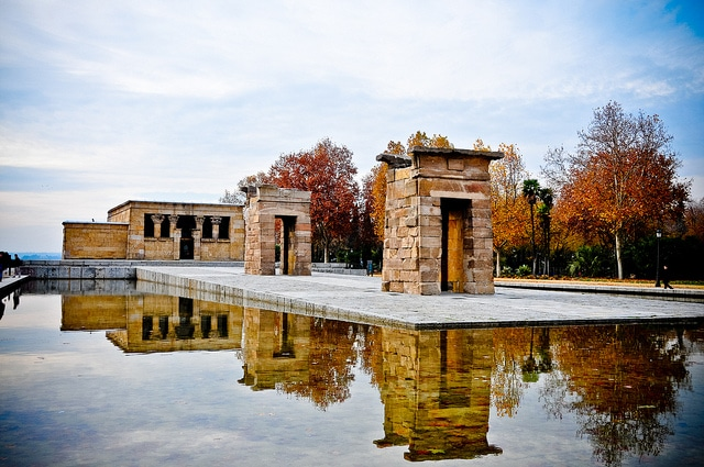 The Egyptian Temple of Debod in Madrid