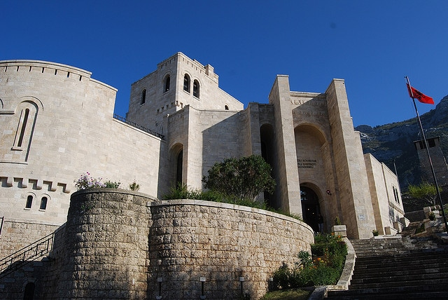Castle in Kruje Albania which doubles as a museum