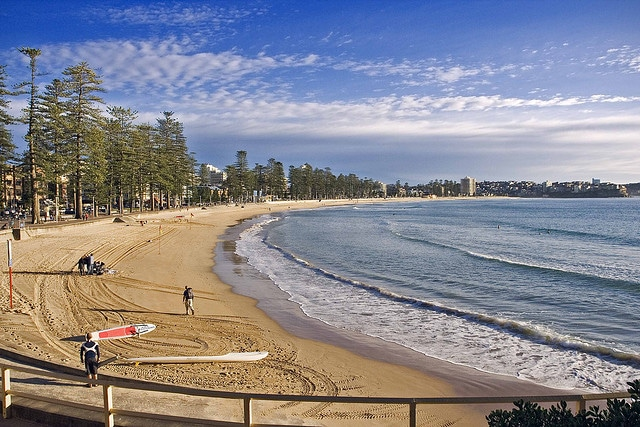 Morning At Manly Beach Sydney