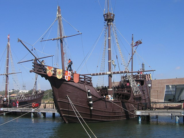 Replica of the caravels of Columbus