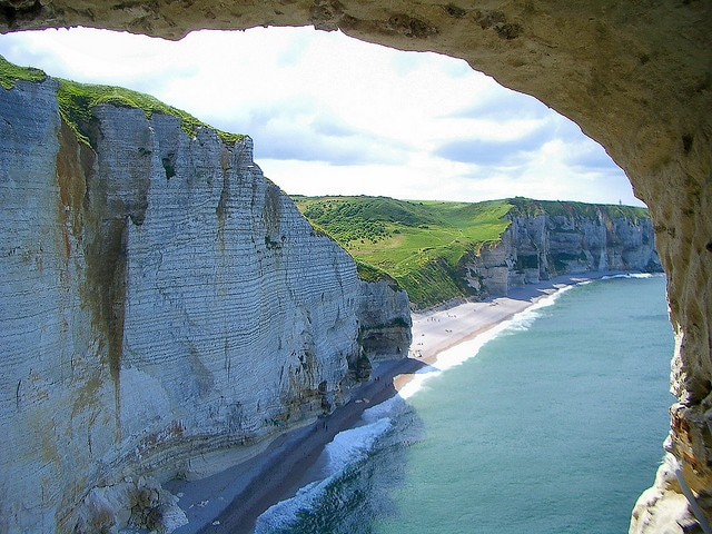 The white cliffs of Etretat