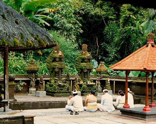 Pura Luhur Batukau, known as the Garden Temple, Tabanan Regency