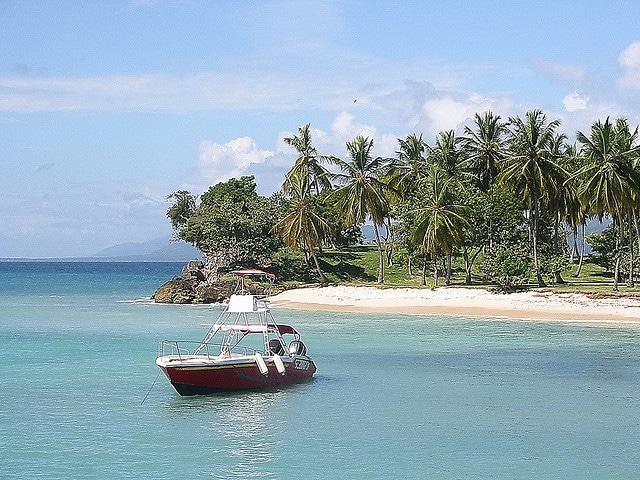 boat off bacardi island samana bay dominican republic