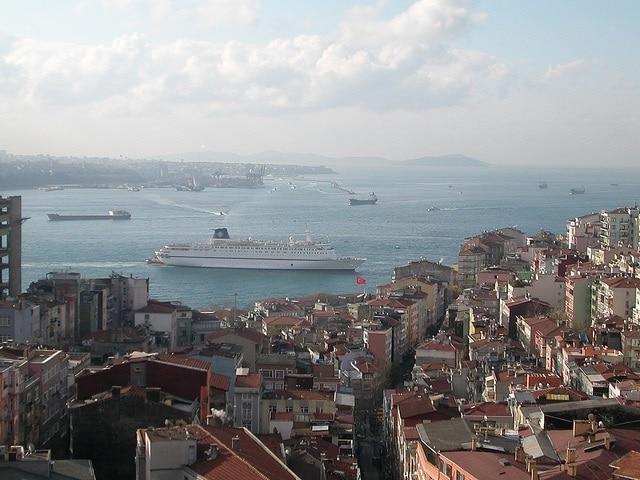 Ferries in Bosphorus