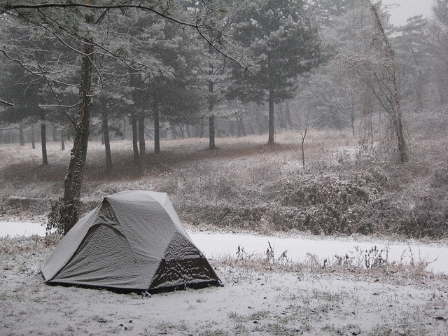 If you can brave the cold, winter is a great time to go camping