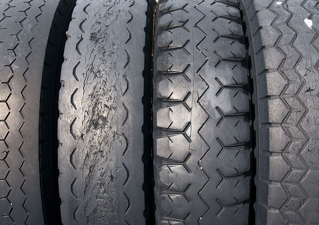 Worn out tires