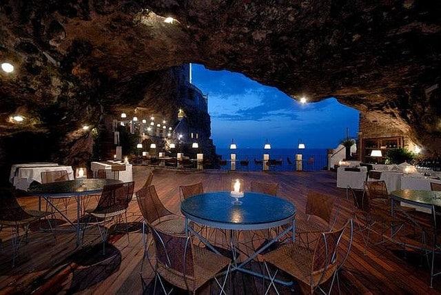 Ristorante Grotta Palazzese, Puglia, Italy