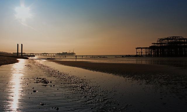 A very early morning stroll on Brighton Beach