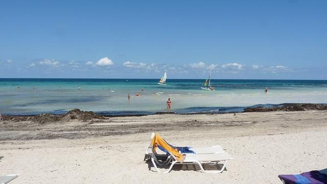 A beach of the Plage de la Seguia
