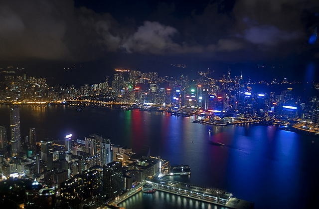 Hong Kong views from Ozone bar