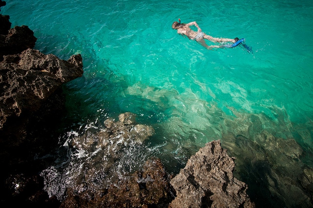 Taking a dip in Cuba