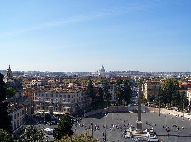 Panorama from Pincio Terrace