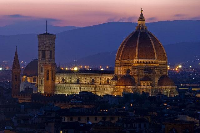The Basilica di Santa Maria del Fiore viewed from Piazzale Michelangelo