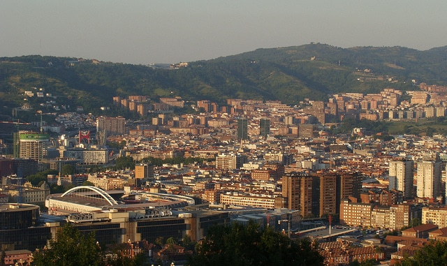 Bilbao seen from the concerts hill