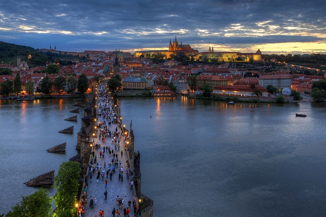 Prague from Charles Bridge Tower