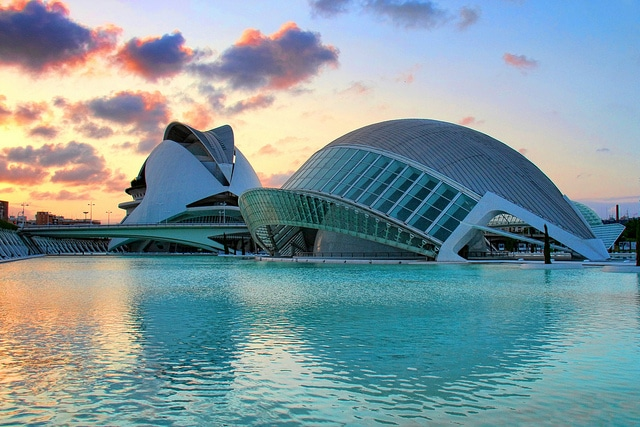 Sunset in the City of Arts and Sciences