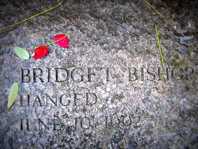 Bridget Bishop was the first person executed for witchcraft in Salem