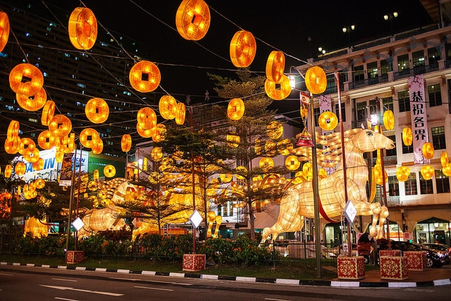 Singapore's Chinatown in the Chinese New Year