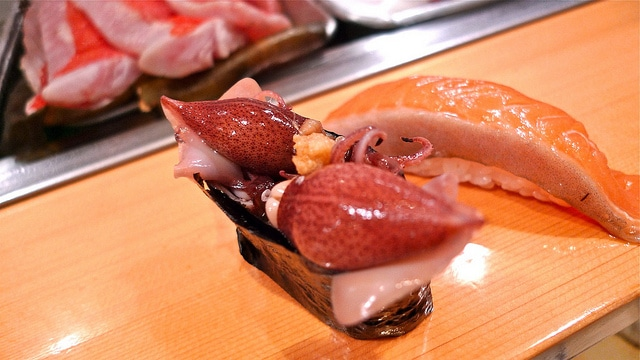 A fresh delicatessen of Sushi Dai