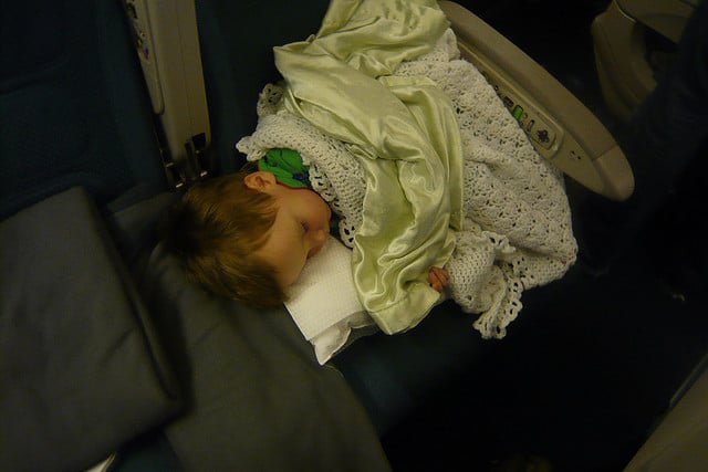 It is advisable to sleep in the plane