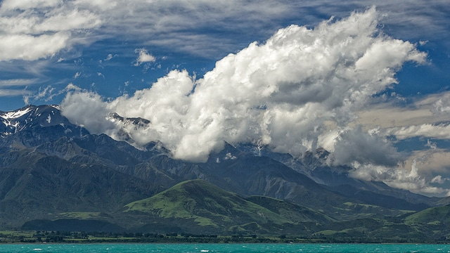 Clouds massing over the Kaikouras