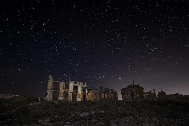 Belchite at night