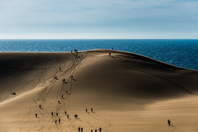 Sand, dune and people