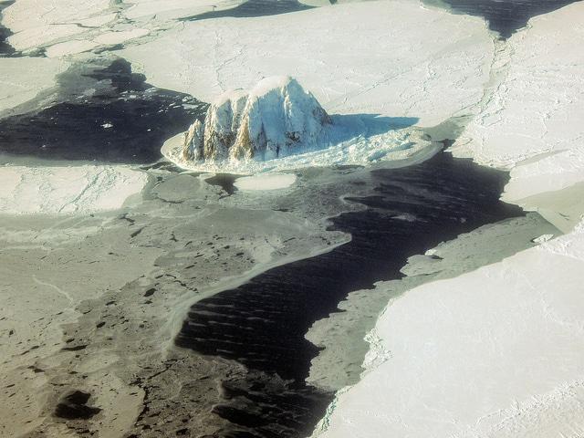 Ice around Little Diomede