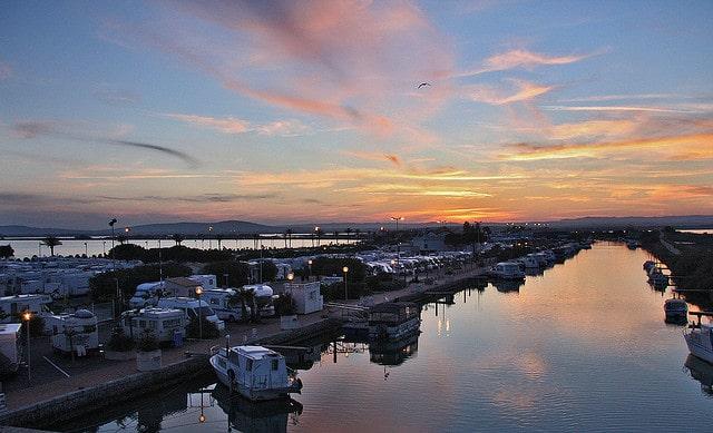 Palavas-les-flots at sunset