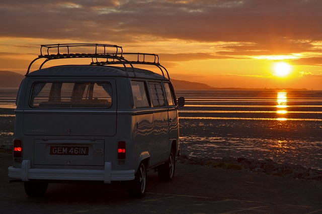 Campervan sunset