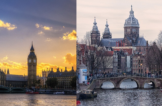 Amsterdam vs London