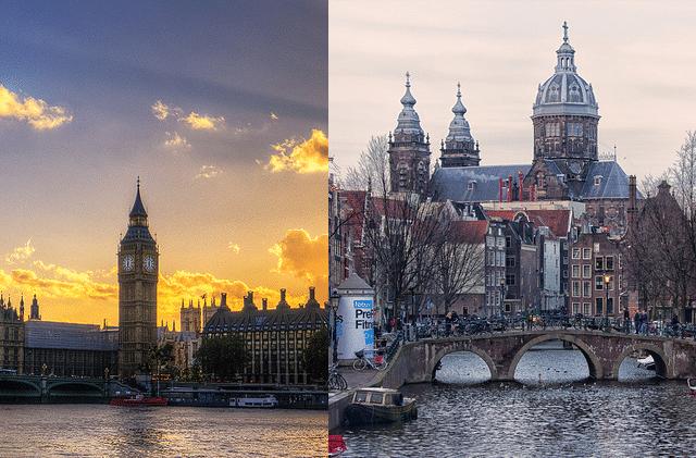 Amsterdam vs London
