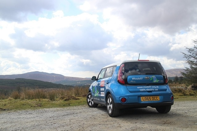 Route 57 car at the Wicklow Mountains, Ireland