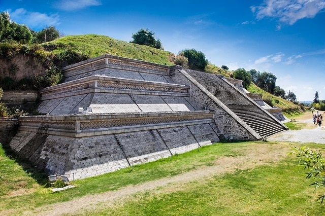 Cholula pyramid - archaeological site in puebla mexico