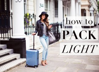 How to pack light tips
