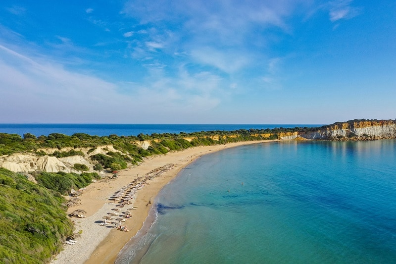 Gerakas beach Zakynthos Greece Aerial