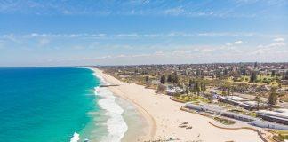 Aerial View of City Beach