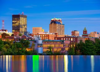 Manchester, New Hampshire Skyline