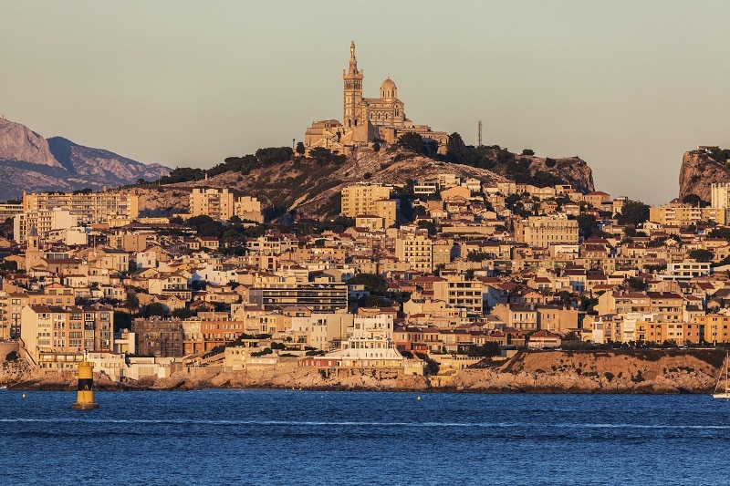 Marseille panorama from Frioul archipelago