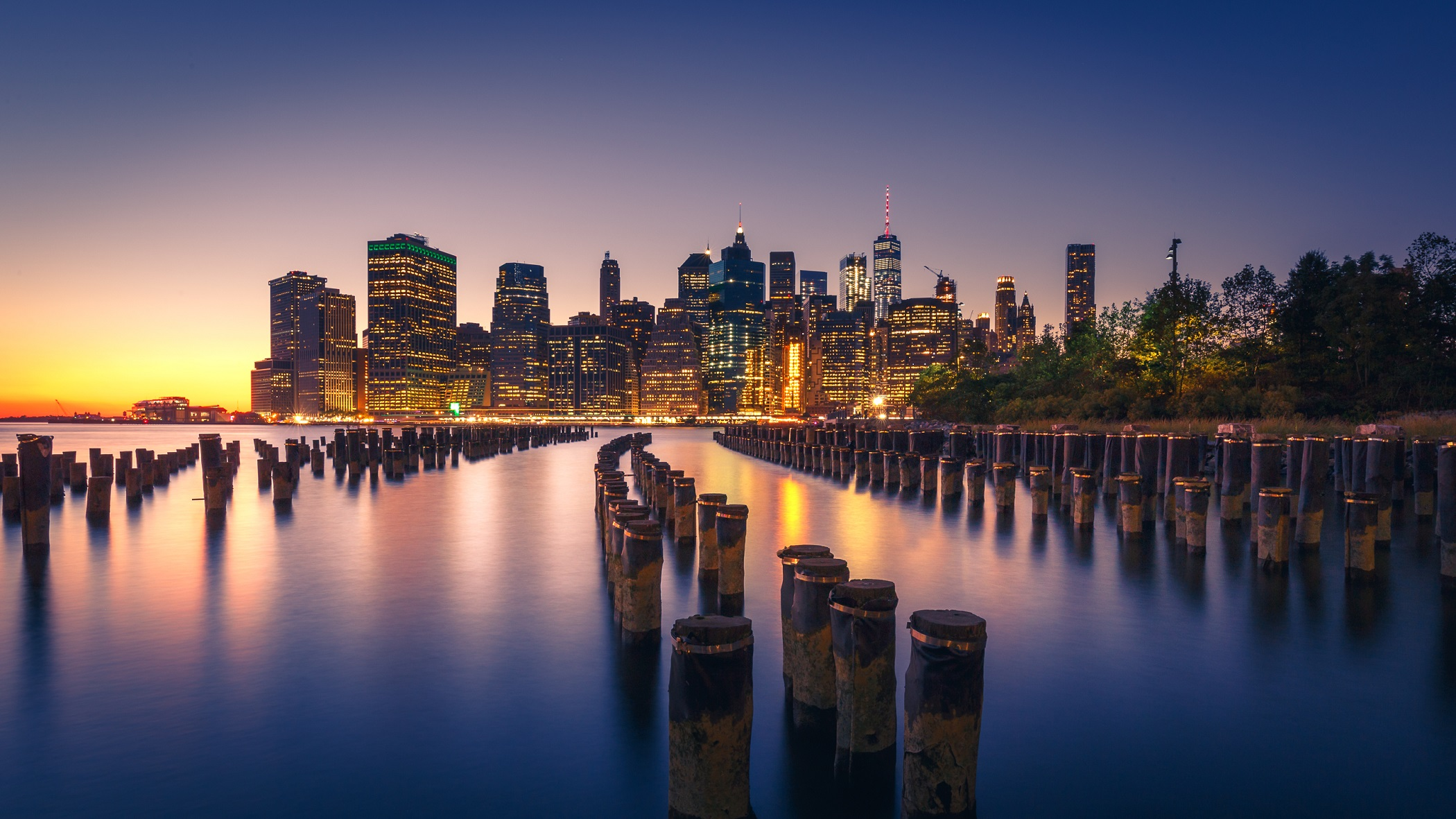 New York City Skyline at Night
