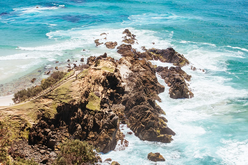 Coastline at Byron Bay in Australia
