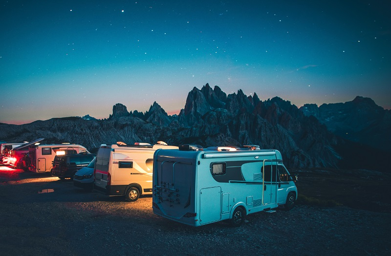 Mountain RV Camping in the Italian Dolomites