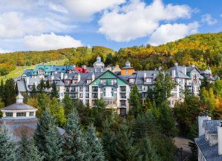 Mont-Tremblant village general view in fall