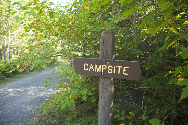 Campsite sign in northern Minnesota