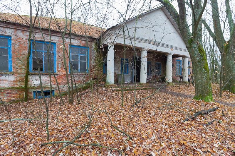 Ruined kindergarten in Chernobyl