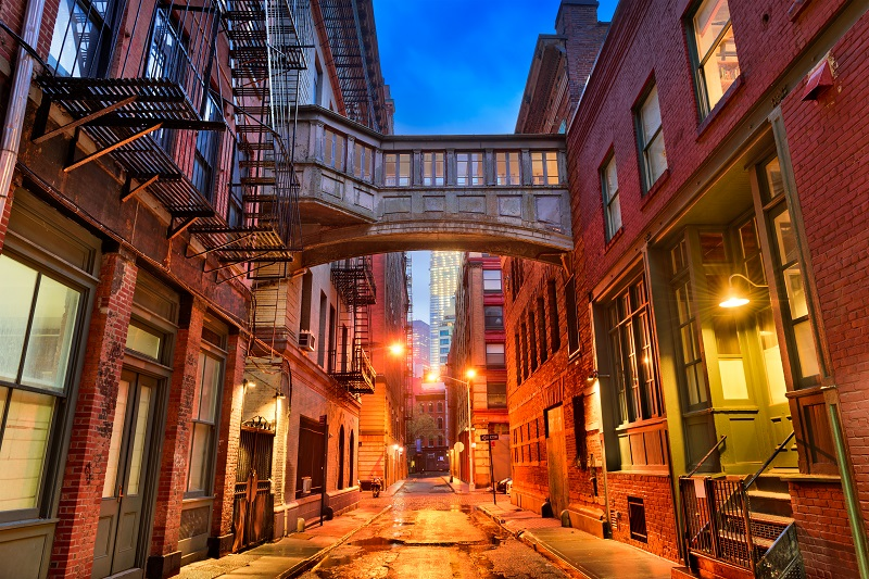Tribeca Alley in New York