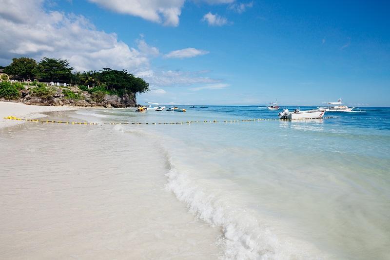 Alona Beach with white sand, Panglao, Philippines